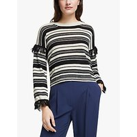 Weekend MaxMara Canga Tassel Jumper, Black/Multi