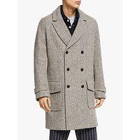 Wax London Harris Tweed Ros Wool Overcoat, Dot Herringbone