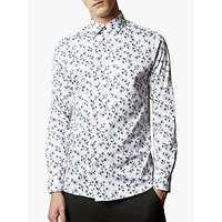 Ted Baker Wewill Floral Print Cotton Shirt, White