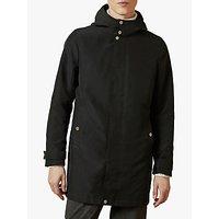 Ted Baker Bearz Funnel Neck Hooded Coat, Black