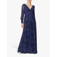 Maids to Measure Suzannah Maxi Dress, Navy Confetti Print