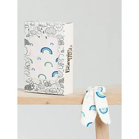 the bonnie mob Baby Cannes Blanket & Teether Set, Blue