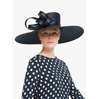 John Lewis and Partners Tanya Wide Brim Occasion Hat, Navy