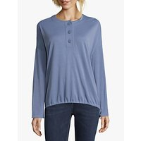 Betty & Co. Button Trimmed Top, Colony Blue