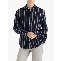 Club Monaco Slim Chelsea Stripe Shirt, Navy/White