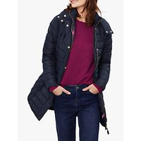 Joules Thirlmere Long Puffer Coat, Navy