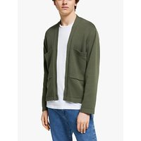 Garbstore The English Difference Cotton Kimono Bomber Cardigan, Camo Green