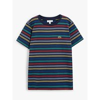 Lacoste Boys Stripe T-Shirt, Blue