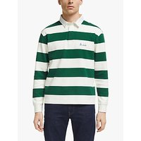Maison Labiche The Dude Long Sleeve Heavy Rugby Jersey, Imperial Green