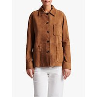 Gerard Darel Giacinta Suede Button Front Jacket, Brown
