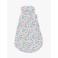 John Lewis & Partners Leckford Bunny Baby Sleeping Bag, 0.5 Tog, Pink/Multi