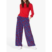 L.K.Bennett Lilou Silk Trousers, Poppy