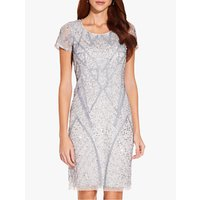 Image of Adrianna Papell Beaded Dress, Cloud