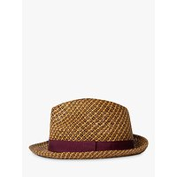 Paul Smith Straw Trilby Hat, Natural Tan
