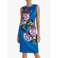 Fenn Wright Manson Isaline Floral Pencil Dress, Blue Peony Print