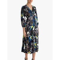Fenn Wright Manson Petite Angelique Blossom Midi Dress, Navy/Multi