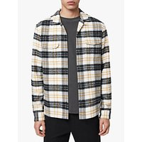 AllSaints Lenado Long Sleeve Check Cotton Shirt, White/Multi