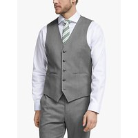 John Lewis and Partners Barberis Wool Suit Waistcoat, Light Grey