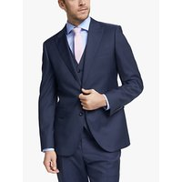 John Lewis and Partners Barberis Wool Tailored Suit Jacket, Blue