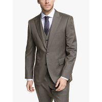 John Lewis and Partners Barberis Wool Tailored Suit Jacket, Light Brown