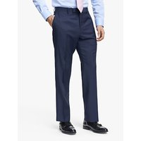 John Lewis and Partners Barberis Wool Tailored Suit Trousers, Blue