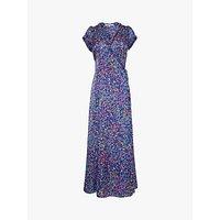 Gerard Darel Susy Floral Wrap Maxi Dress