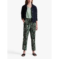 Gerard Darel Marina Silk Camo Trousers, Green