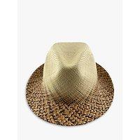 Christys Woven Summer Panama Hat, Neutral/Multi
