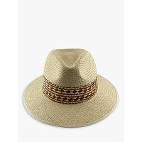 Christys Braided Band Summer Panama Hat, Neutral/Tan