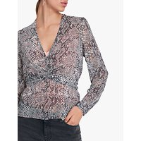 hush Lucia Twist Front Top, Grey