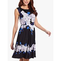 Image of Adrianna Papell Shadow Rose Dress, Multi
