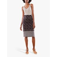 Pure Collection Pencil Skirt, Foulard Border Print