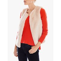 Pure Collection Faux Fur Gilet, Oyester