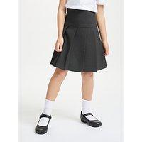 John Lewis and Partners Girls Adjustable Waist Stain Resistant Panel Pleated School Skirt