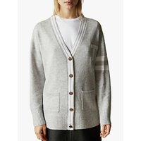 Ted Baker Holyee Wool Blend V-Neck Cardigan, Grey Mid