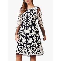Studio 8 Aimee Tapework Dress, Navy/Ivory