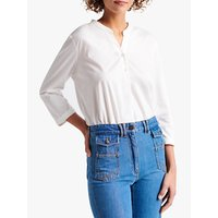Gerard Darel Jazz V-Neck Button T-Shirt, Ecru