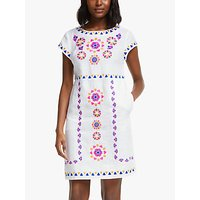 Boden Laura Linen Mini Dress, White