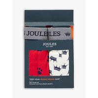 Joules Crown Joules Boxer Shorts, Pack of 2, Top Dog