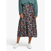 AND/OR Gemma Floral Wrap Skirt, Black/Multi