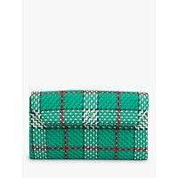 L.K.Bennett Dora Tweed Clutch Bag, Green