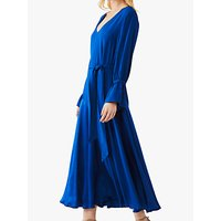 Ghost Tilda Tie Belt Flared Dress, Indigo