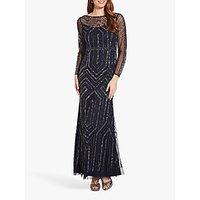 Image of Adrianna Papell Geo Beaded Maxi Dress, Midnight