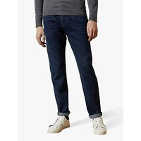 Ted Baker Solang Straight Fit Washed Denim Jeans