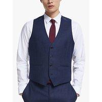 Kin Semi Plain Wool Waistcoat, Dark Blue