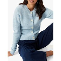 Brora Cashmere Donegal Cardigan, Mineral