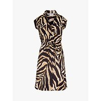 Gerard Darel Sole Cotton Animal Print Dress, Brown