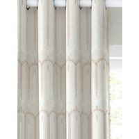 John Lewis and Partners Rialto Pair Lined Eyelet Curtains, Champagne