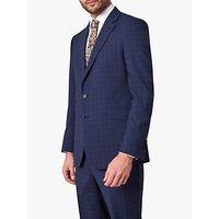 Jaeger Wool Multi Check Regular Fit Suit Jacket, Navy