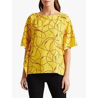 Lauren Ralph Lauren Anielka Short Sleeve Blouse, Dandelion Fields Yellow